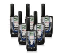 6 Radios  cobra cxr825 6 pk
