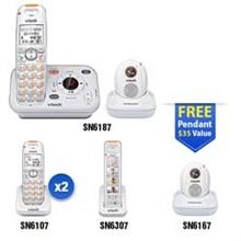 Vtech Careline Series vetch sn6187 2 sn6107 1 sn6307