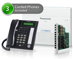 SOHO Business Phone Systems KX TA824 5CO