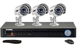 Lorex 3 Camera Systems  lorex lh1161001