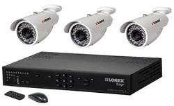 Lorex 3 Camera Systems  lorex lh328501 and 3 lbc6050