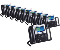 6 Line Phones grandstream gxp2160 10 pack