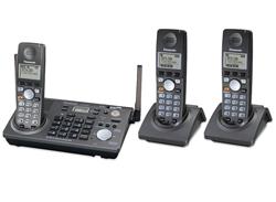 3 Handsets panasonic kx tg6700b 2 kx tga670b