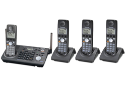 4 Handsets panasonic kx tg6700b 3 kx tga670b