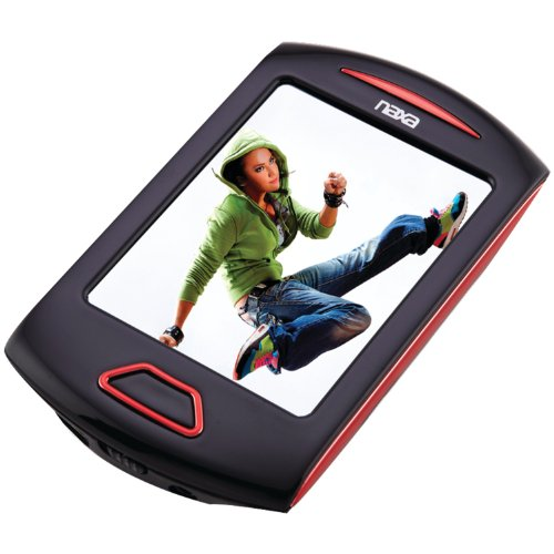 Naxa NAXNMV179RDR Portable Media Player W/ 2.8-Inch Touch Screen (Red)