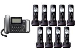 Panasonic 2 Line Corded Phones panasonic kx tg9582b kx tga950b