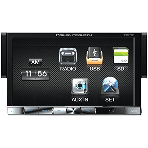 PowerAcoustic POWPDR760B Single Din Digital Media Receiver with Motorized Hang Down 7-Inch LCD Touch Screen at Sears.com