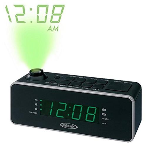 jensen jenjcr235b dual alarm projection clock radio ebay. Black Bedroom Furniture Sets. Home Design Ideas