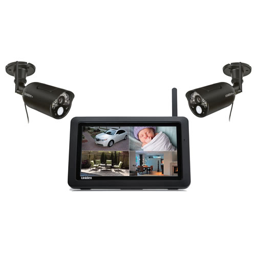 Uniden Uniden UDR744 Outdoor Cameras with 7-Inch LCD Touchscreen (Black)