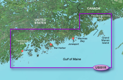 Garmin United States BlueChart Water Maps Bluechart g2 vision VUS001R North Maine