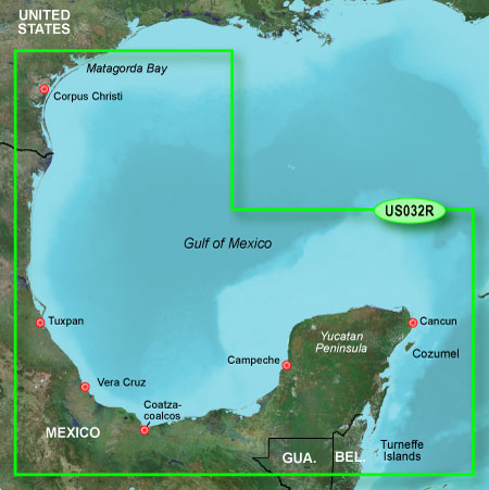 Bluechart g2 vision VUS032R Southern Gulf of Mexico