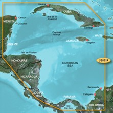 Garmin Caribbean Central America BlueChart Water Maps Bluechart g2 vision VUS031R Southwest Caribbean