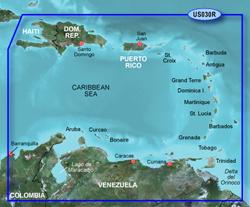 Garmin Caribbean Central America BlueChart Water Maps Bluechart g2 vision VUS030R Southeast Caribbean