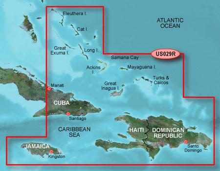 Bluechart g2 vision VUS029R Southern Bahamas