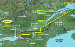 Garmin Great Lakes BlueChart Water Maps Bluechart g2 vision VUS020R St Lawrence Seaway
