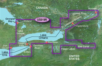 Bluechart g2 vision VUS019R Lake Ontario to Montreal