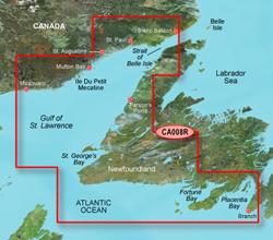 Garmin East Canada BlueChart Water Maps Bluechart g2 vision VCA008R Newfoundland West