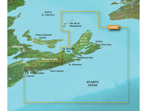 Bluechart g2 vision VCA006R PEI to Chaleur Bay