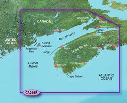 Garmin BlueChart g2 Vision HD Marine Cartography Bluechart g2 vision VCA004R Bay of Fundy