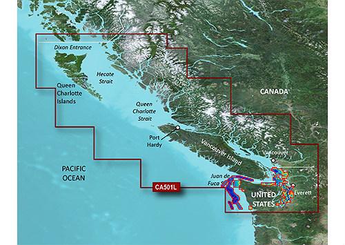 Bluechart g2 vision VCA501L Vancouver Island Dixon Entrance