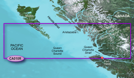 Bluechart g2 vision VCA010R Hecate Strait South