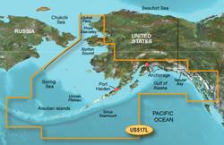Garmin Alaska BlueChart Water Maps Bluechart g2 vision VUS517L Alaska South