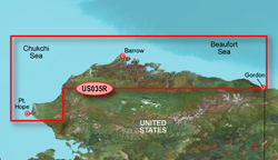 Garmin Alaska BlueChart Water Maps Bluechart g2 vision VUS035R North Slope Alaska