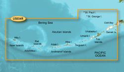 Garmin Alaska BlueChart Water Maps Bluechart g2 vision VUS034R Aleutian Islands