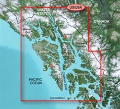 Garmin Alaska BlueChart Water Maps Bluechart g2 vision VUS026R Wrangell Juneau Sitka
