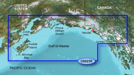 Bluechart g2 vision VUS025R Anchorage to Juneau