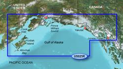 Garmin Alaska BlueChart Water Maps Bluechart g2 vision VUS025R Anchorage to Juneau