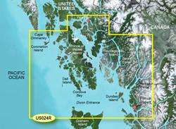 Garmin Alaska BlueChart Water Maps bluechart g2 vision vus024r wrangell to dixon entrance