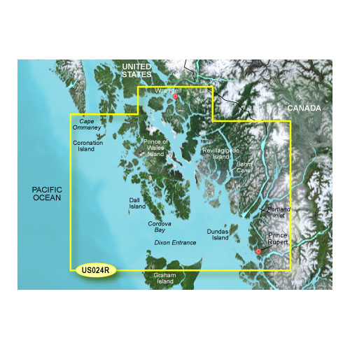 bluechart g2 vision vus024r wrangell to dixon entrance