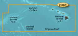 Garmin West Coast United States BlueChart Water Maps Bluechart g2 vision VUS027R Hawaiian Is Mariana Is