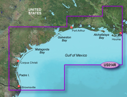 Garmin Gulf of Mexico BlueChart Water Maps Bluechart g2 vision VUS014R Morgan City to Browns