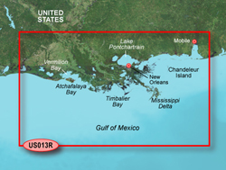 Garmin Gulf of Mexico BlueChart Water Maps Bluechart g2 vision VUS013R Mobile to Lake Charles