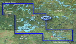 Garmin Great Lakes BlueChart Water Maps Bluechart g2 vision VCA012R Lake of the Woods Rainy Lake