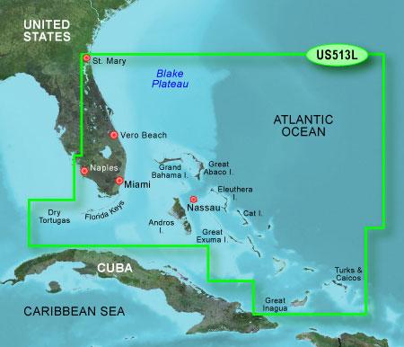 Bluechart g2 vision VUS513L Jacksonville Bahama