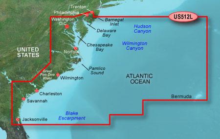 Bluechart g2 vision VUS512L Mid Atlantic