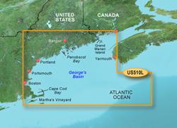 Garmin East Coast United States BlueChart Water Maps Bluechart g2 vision VUS510L St John Cape Cod