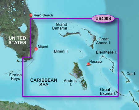 Bluechart g2 vision VUS400S Walkers Cay to Exuma Sound