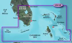 Garmin Caribbean Central America BlueChart Water Maps Bluechart g2 vision VUS010R Southeast Florida
