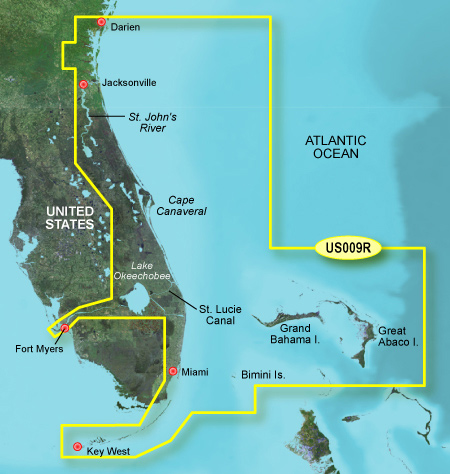 Bluechart g2 vision VUS009R Jacksonville to Key West