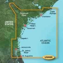 Garmin Southeast United States BlueChart Water Maps Bluechart g2 vision VUS008R Charleston to Jacksonville