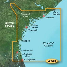 Bluechart g2 vision VUS008R Charleston to Jacksonville