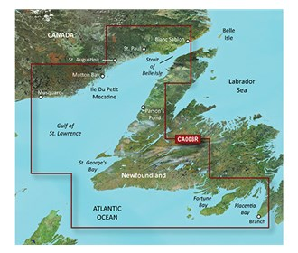 Bluechart g2 vision VCA013R Labrador Coast