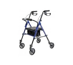 Rollators lumex set n go wide height adjustable rollator