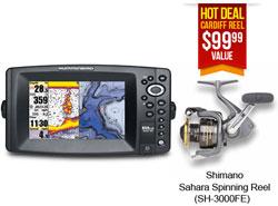 Humminbird GPS FishFinders 859ci HD DI Reel Combo