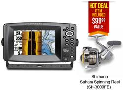 Humminbird GPS FishFinders 899ci HD SI Reel Combo