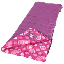 Coleman Sleeping Bags coleman youth girls rectangular sleeping bag